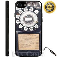 Case For iPhone 6S 7 Plus Samsung Galaxy S7 S8 Plus+STYLUS-Vintage Rotary Phone