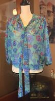 Sweet pea by stacy frati New York and Company sheer floral top oversize small
