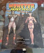Monster Paper Dolls Book, 1983 Universal, Congdon & Weed, Unused!  Frankenstein