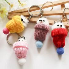 Mini Fox dans le chapeau de Noël sac de charme porte-clés accessoire Finder