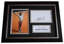 More details for nadia comaneci signed a4 framed autograph photo display gymnastics  aftal coa