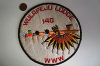 OA WULAPEJU LODGE 140 BLACKHAWK AREA COUNCIL FLAP PEACE PIPE JACKET PATCH
