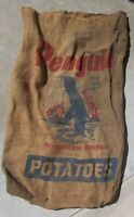 Vintage 100lb Potatoes Burlap Sack - Penguin Northern Grown