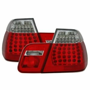 Tail lights (LED) for BMW 3 E46 rear lights - red and white