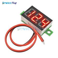 Mini Red LED Panel Voltage Meter 3-Digital Adjustment Voltmeter DC 4.0-30V