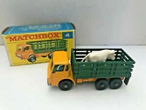 Rare Matchbox Series No. 4, Stake Truck, with Cow in Box - Superb Mint Condition