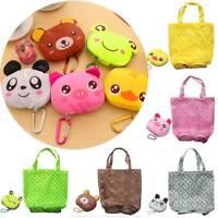 Cute Animal Shape Foldable Shopping Bag Reusable Tote Bag Portable Shoulder Bag