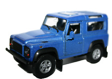Land Rover Defender Car 1:32 Scale Model Diecast Metal Opening Doors Blue Colour