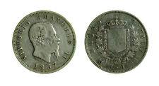 s644_32) Vittorio Emanuele II Re d'Italia (1861-1878) - 1 Lira 1867 M