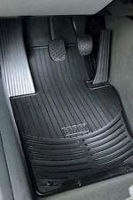BMW Black Rubber FRONT Floor Mats 2000-2005 E46 Sedan Wagon w/xDrive 82550136372