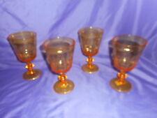 4 NEW LE CADEAUX POLYCARBONATE YELLOW BISTRO STEMMED WINE GLASS BREAK RESISTANT