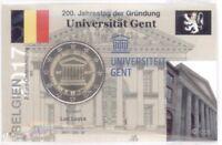 2 Euro Coincard / Infokarte Belgien 2017 Gent