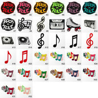 #1054IR Musical Music Note Symbol Embroidered Sew Iron On Patch Applique Badge