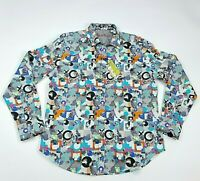 Robert Graham Mens Shirt Size M Kraftmeyer Long Sleeve Abstract Print $198 NEW