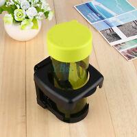 Car Vehicle Folding Beverage Drink Bottle Can Cup Holder Stand Mount Black