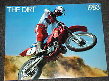 NOS HONDA THE DIRT 1983 CR XR XL FULL RANGE SALES BROCHURE VINTAGE ELSINORE EVO