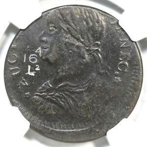 1788 16.4-L.2 R-5 NGC XF 40 Draped Bust Left Connecticut Colonial Coin