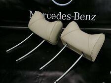 MERCEDES W123 Front Seat Headrest  Creme  Set of 2