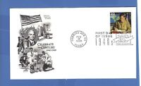 FIRST DAY ISSUE G.I. BILL 1944 WORLD WAR 2 STAMP CELEBRATE THE CENTURY FDC