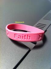 100 Pink BREAST CANCER Awareness Silicone ADULT Bracelets PINK Wristband