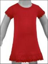 100% Cotton Infant Toddler Girls Blanks Short Ruffle Sleeve Dress 6M to 6X