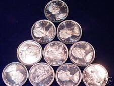 1966 Canada Proof Like Silver Dollars Lot Of 10