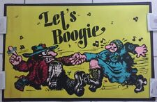"1972 Gemini Rising Poster ""Let's Boogie"" #275 / Vintage /Rare"
