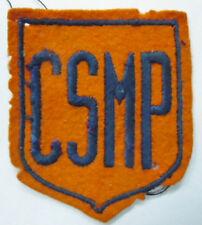 Insigne patch écusson 1940/50 CSMP SPORT CLUB SPORTIF ORIGINAL relique