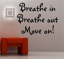 BREATHE IN wall art sticker vinyl BEDROOM KITCHEN QUOTE