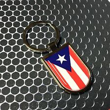 Puerto Rico Flag Domed Stainless Keychain Proud Flag Car 3D 45mm x 30mm San Juan