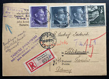 1943 Tarnow GG Germany Postcard Commercial Cover Locally Used