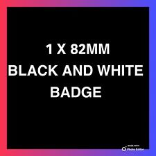 ✅Bmw✅Black And White✅82mm Bonnet Or Boot Complete Badge Brand New 2 Pins