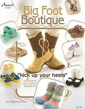 Big Foot Boutique Adult & Child Slippers Annies Crochet Instruction Patterns NEW