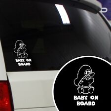 "Baby Mario Super Mario Funny ""Baby on Board"" Car Window Vinyl Decal Sticker"