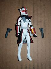Star Wars Rare Red ARC Trooper Commander With Blaster Pistols and Arm Gauntlet