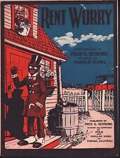Rent Worry 1924 Sheet Music
