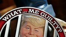 "MAD Magazine's Alfred E. Neuman as Donald J. Trump 2"" Challenge Coin Lock Him Up"
