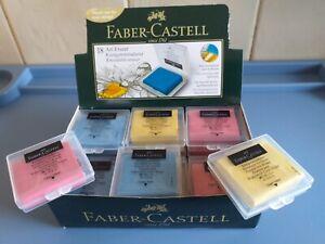 Faber Castell Kneadable Art Eraser - Putty Eraser With Box - Blue, Yellow & Pink