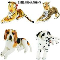 Kids Children Large Toy Cuddly Plush Stuffed Play Soft Animals Dog Leopard Tiger