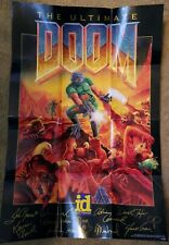 """Vintage THE ULTIMATE DOOM Poster 18"""" x 26.5"""" PC Game Poster 1995 Very Good Cond."""
