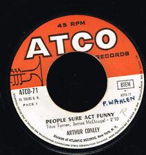 """45T 7"""": Arthur Conley: people sure act funny. atco. A16"""