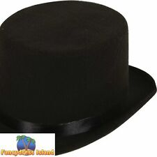 Old England Victorian Black Top Hat Mens Adults Fancy Dress Costume Accessory