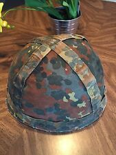 West German Bundeswehr Helmet with Liner  &  Camo Cover 57-61
