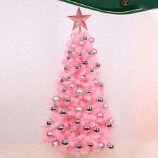 New Mini Table Top Pink Christmas Tree Decor Xmas Gift LED Light Party Ornaments