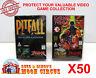 50x ATARI JAGUAR CIB GAME - CLEAR PLASTIC PROTECTIVE BOX PROTECTOR SLEEVE CASE