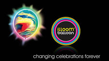 illooms LED Balloons MARBLE Light up colorful balloons, 5 Pack (IB30418)