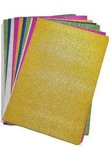A4 Glitter Card Assorted Colours Crafts Paper Premium Card Art School Kids