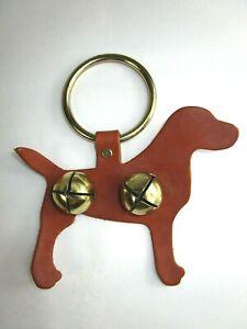 Doggie Door Bells Dog Potty Alert Jingle Bells Tan Labrador Retriever Leather