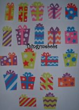 10 LARGE FOAM CHRISTMAS PRESENTS/GIFTS STICKERS - CHILDREN'S CRAFTS/CARD MAKING