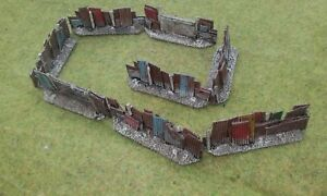 """New! 8 x 15mm """"Shanty Style"""" FENCE SECTIONS Terrain AK47 District 9 Sci-fi"""